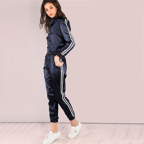 Satin Luxe Drawstring Joggers pants