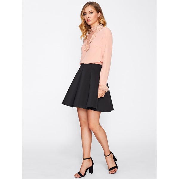 Box Pleated Skirt - LB Boutique