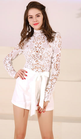 White See Through Playsuit