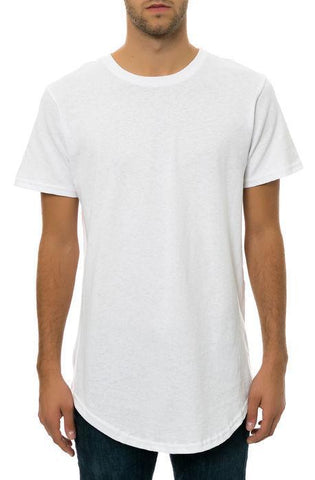 CB Tall Scallop Bottom Tee (White)
