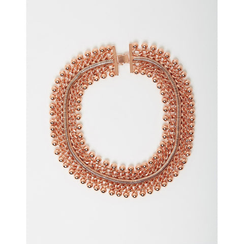 Izoa Freesia Collar Necklace Rose Gold