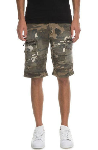 Distressed Tactical Biker Shorts