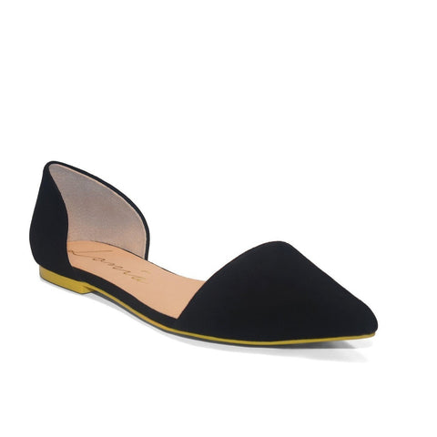 Black Suede Flats - LB Boutique