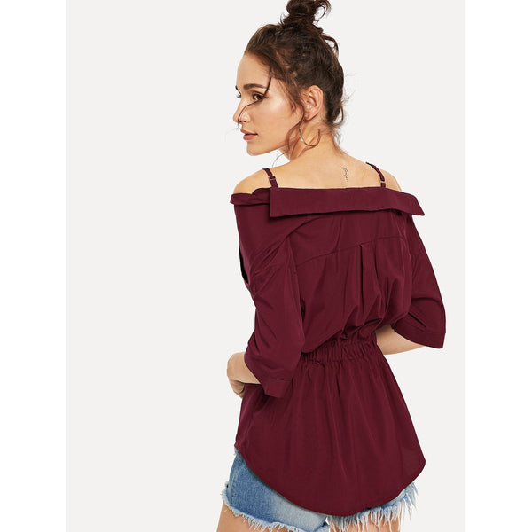 Twist Button Cami Blouse