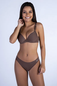 Nude Butterfly Back Push-up Bra and Panty