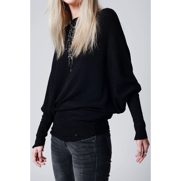 Black Batwing jersey - LB Boutique