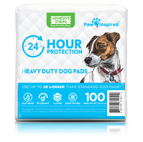 100ct Paw Inspired Heavy Duty 24hr Protection Large Adhesive Puppy Pads
