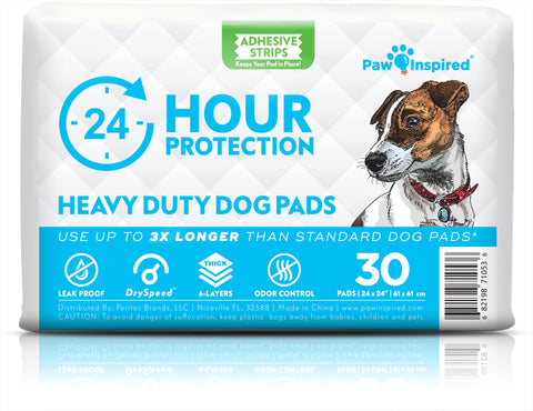 30ct Paw Inspired Heavy Duty 24hr Protection Large Adhesive Puppy Pads