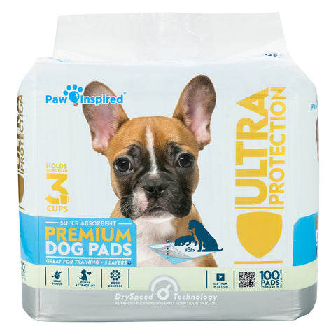100ct Paw Inspired Ultra Protection Puppy Training Pads