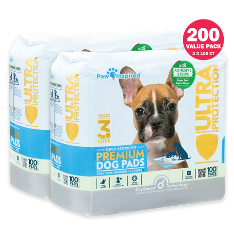 200ct Paw Inspired Ultra Protection Puppy Training Pads