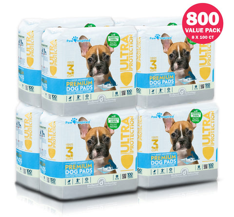 800ct Paw Inspired Ultra Protection Puppy Training Pads
