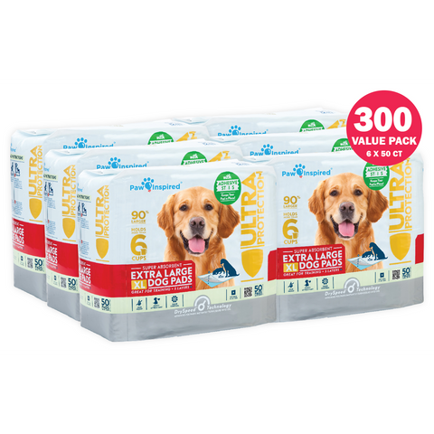 300ct Paw Inspired Ultra Protection XL Puppy Training Pads