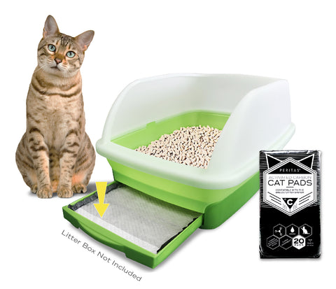 "20ct Peritas Activated Carbon Cat Pads for Breeze Tidy Cat Litter System 16.9"" x 11.4"""