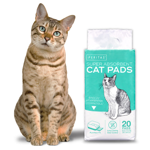 "20ct Peritas Generic Refill Cat Pads for Breeze Tidy Cat Litter System  16.9"" x 11.4"""