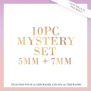 10PC {MYSTERY BUNDLE} 5mm + 7mm Washi Set