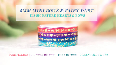 FALL | 5mm Mini Bows & Fairy Dust Washi Set