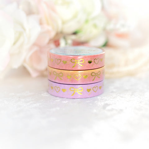 SUNLIGHT Bows & Hearts - 10mm Washi Set