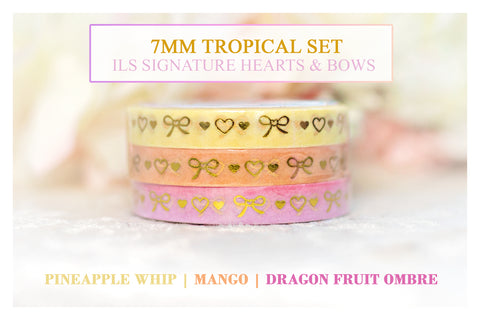 ILS Signature Hearts & Bows | Tropical 7mm Washi Set
