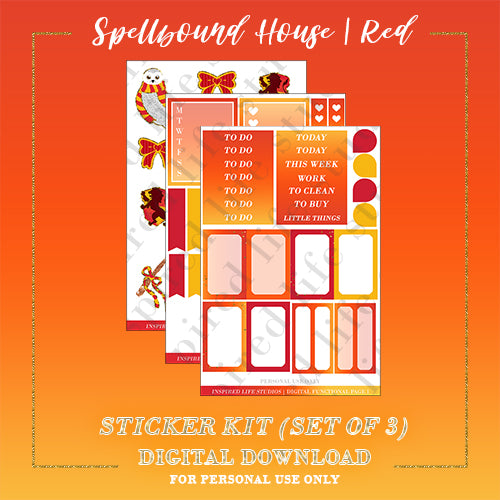 RED | Spellbound House Sticker Kit