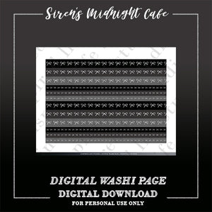 "Siren's Midnight Cafe ""Faux Washi"" Strips"