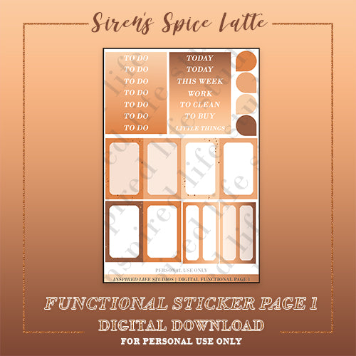 Siren's Spice Latte Functional Page 1