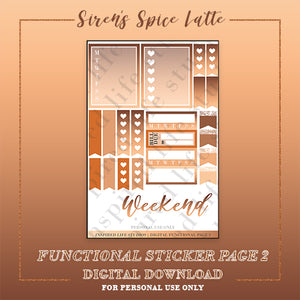 Siren's Spice Latte Functional Page 2