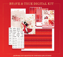 Load image into Gallery viewer, Brave & True | DIGITAL + WASHI BUNDLE
