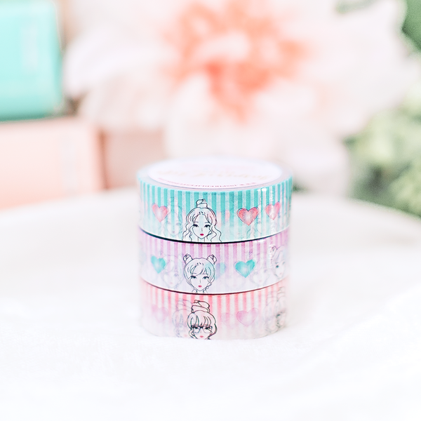 Girls & Bows Washi (Set of 6)
