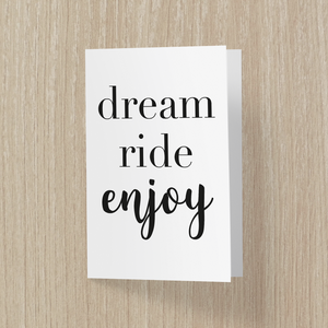 Dream Ride Enjoy Anledningskort