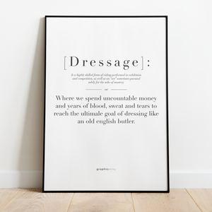 Dressage | citat - Graphicpony
