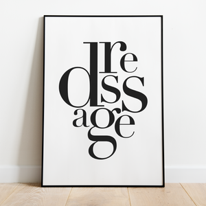 Dressage in motion | typografi - Graphicpony