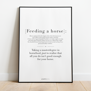 Feeding a horse | citat - Graphicpony