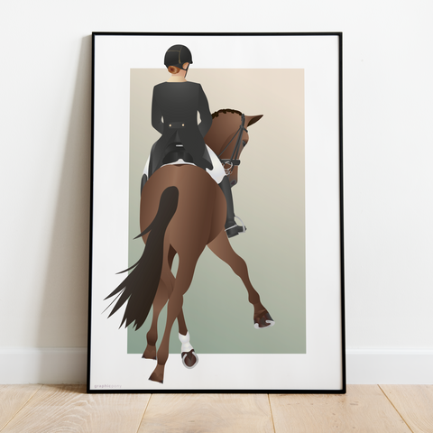 Travers Dressage Horse - Graphicpony