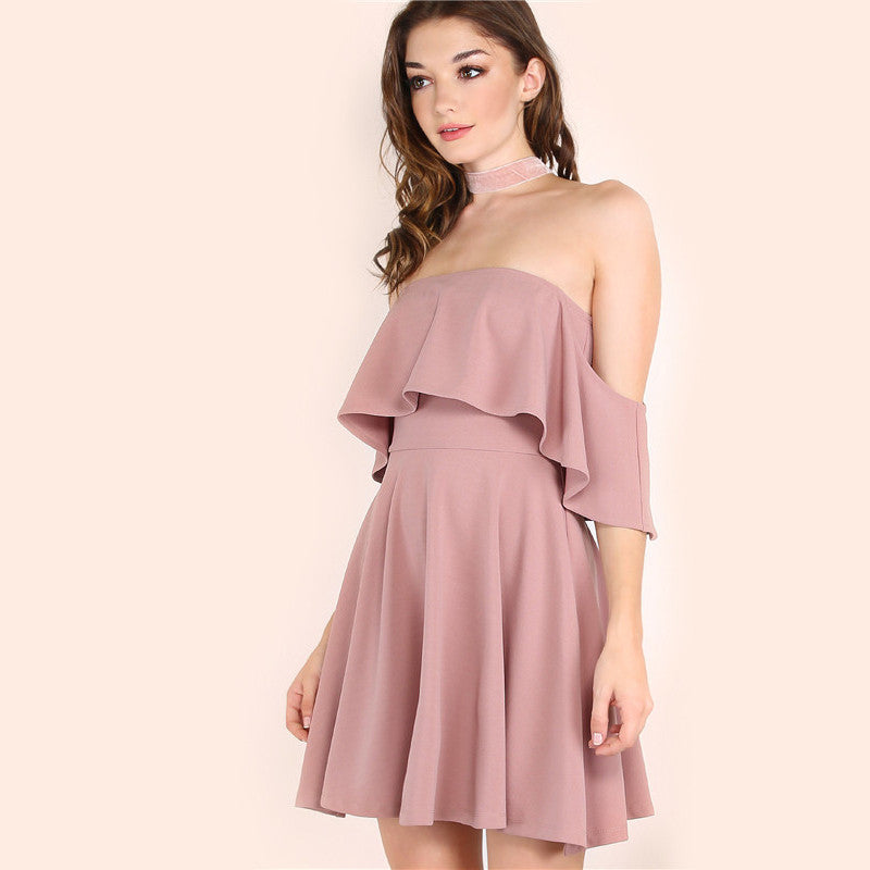 Kyla - Ruffle Fold Dress