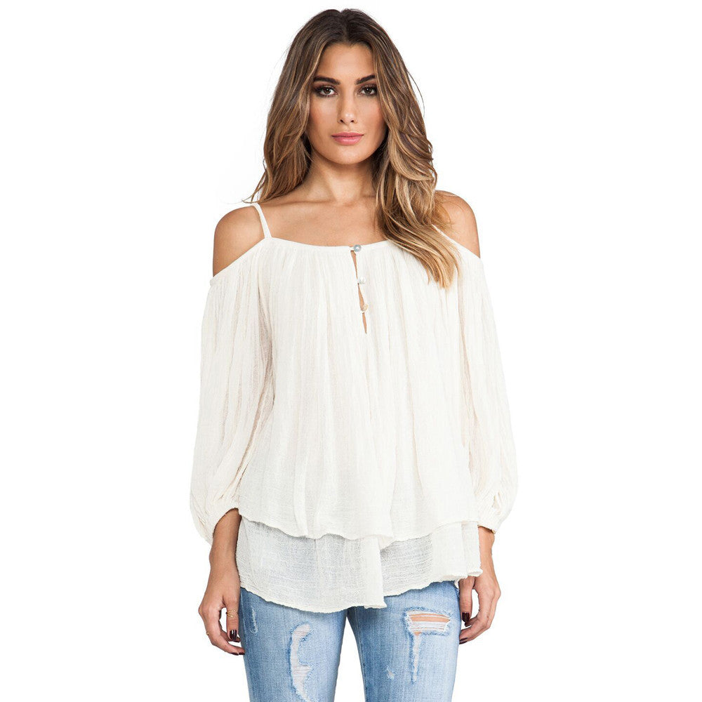 Ivory - Off-Shoulder Blouse