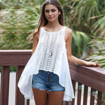 Josephine - Crochet Front Swing Top