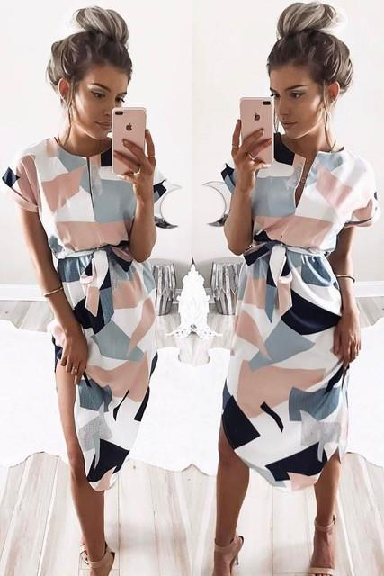 Cera - Geometric Pencil dress