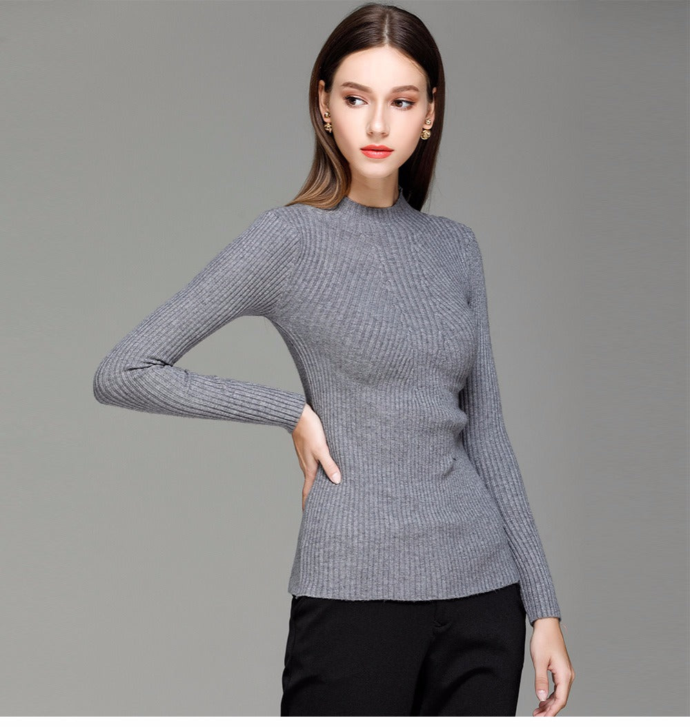Quinn - Turtleneck Knitted Sweater (49 Reviews)