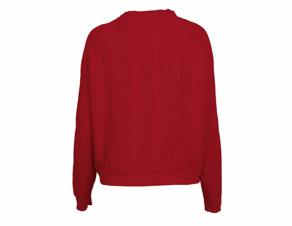 Kaydence - Batwing Hollow Out Sweater