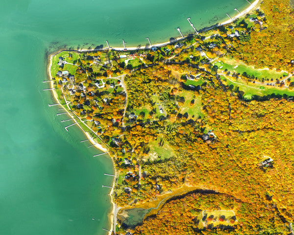 Best Dering Harbor Village in Fall Print