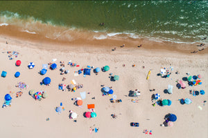 East Hampton Main Beach on July 4th - Birdseye