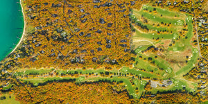 "Best Gardiner's Bay Country Club ""Course Map in Autumn"""