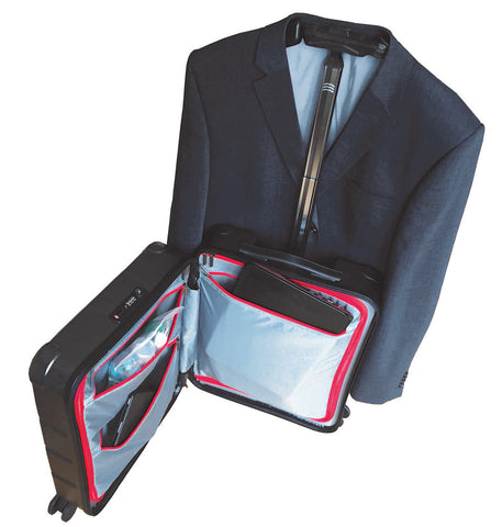 Investment features for Hanger Handle travel case