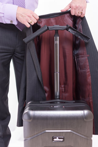 carry on suitcase with hanger