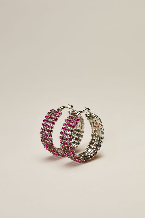 Fuchsia Jupiter Crystal Earrings