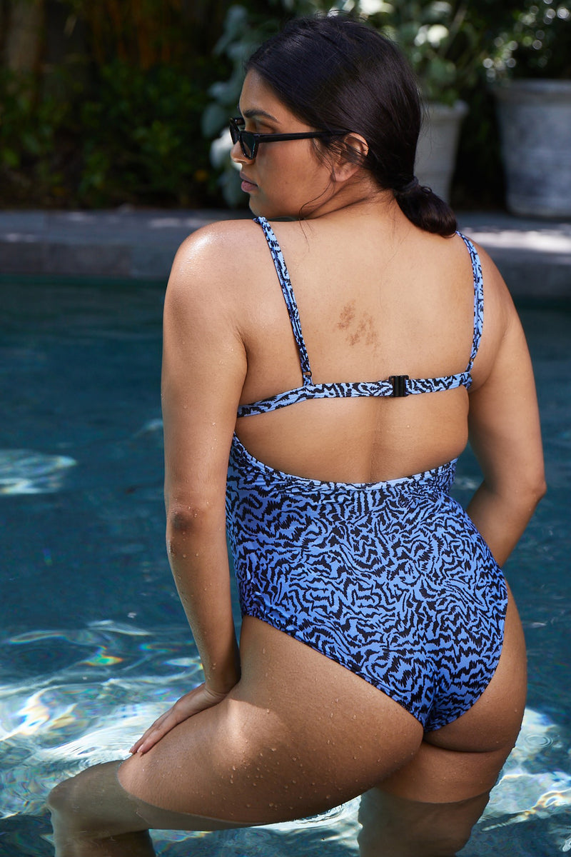 Pale Blue Tiger One Piece