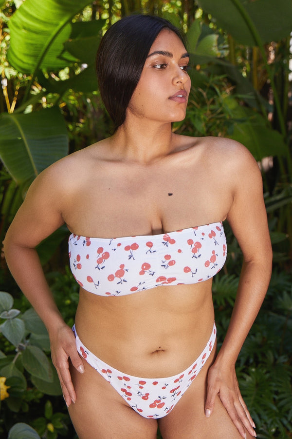 Cherry Bandeau Top