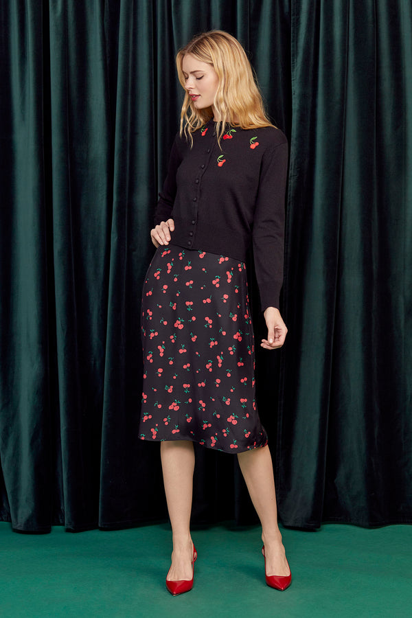Black Cherry Wiona Slip Skirt