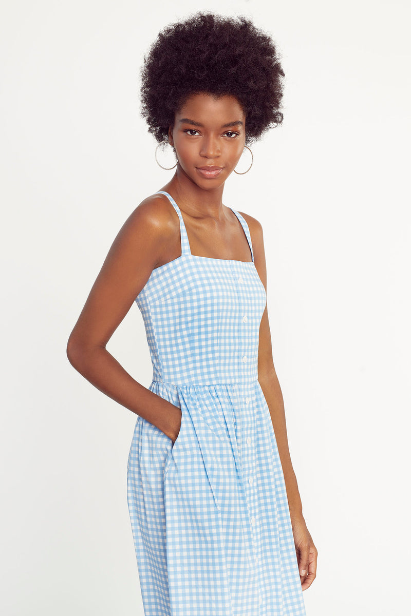 Blue Gingham Laura Dress