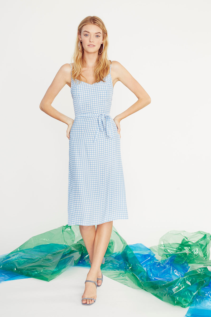 Blue Gingham Lily Slip Dress
